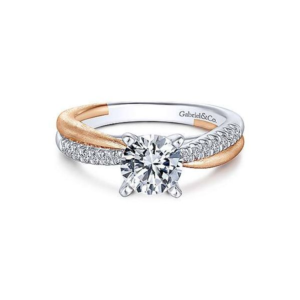 Gabriel & Co ER10300 14K Two Tone Diamond Engagement Ring . Enhancery Jewelers San Diego, CA