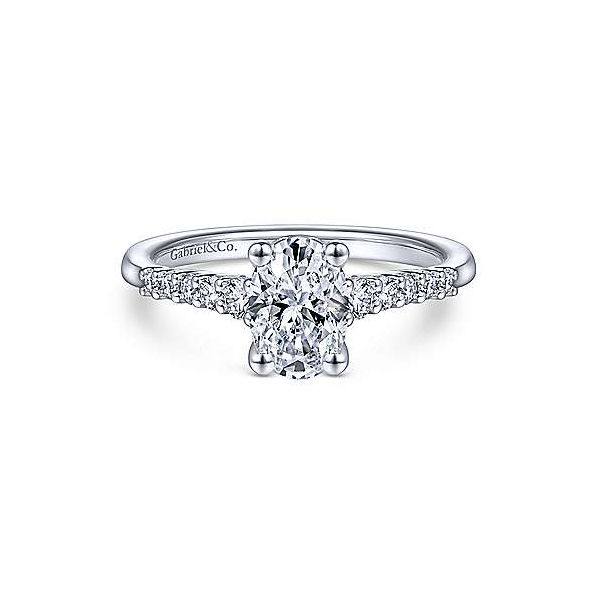 Gabriel ER11755 14K White Gold Engagement Ring Enhancery Jewelers San Diego, CA