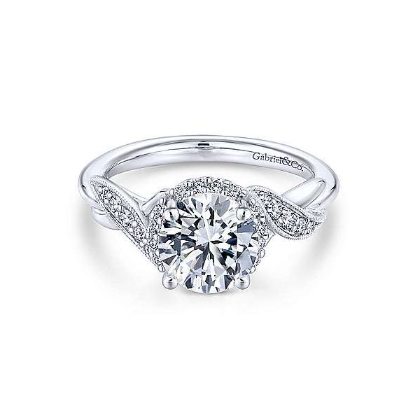 Gabriel ER11828R4 4K White Gold Engagement Ring Enhancery Jewelers San Diego, CA