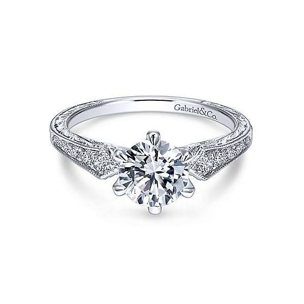 Gabriel ER11839R,14K White Gold Engagement Ring Enhancery Jewelers San Diego, CA