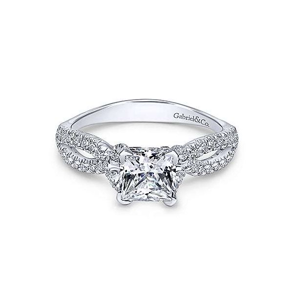 Gabriel ER11887S4 14K White Gold Engagement Ring Enhancery Jewelers San Diego, CA