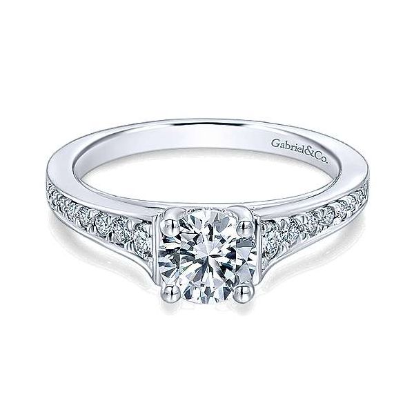 Gabriel ER12276R3 14K White Gold Diamond Engagement Ring Enhancery Jewelers San Diego, CA