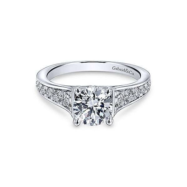 Gabriel ER12277R4 14K White Gold Diamond Engagement Ring Enhancery Jewelers San Diego, CA