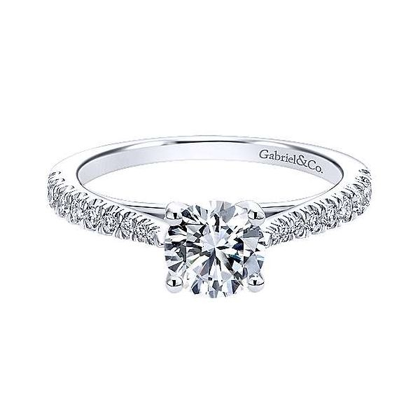 Gabriel ER12291R3 14K White Gold Diamond Engagement Ring Enhancery Jewelers San Diego, CA