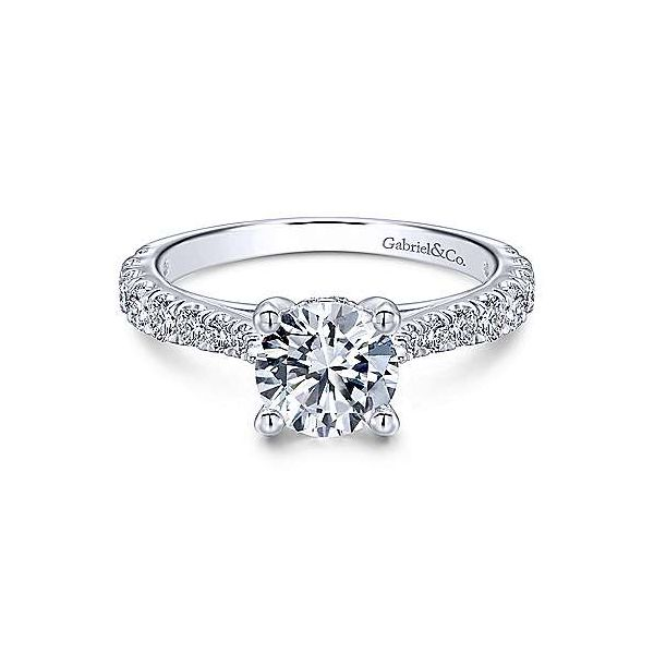 Gabriel ER122292R4  14K White Gold Diamond Engagement Ring Enhancery Jewelers San Diego, CA