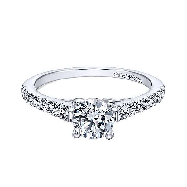 Gabriel ER12297R3 14K White Gold Diamond Engagement Ring Enhancery Jewelers San Diego, CA