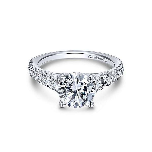 Gabriel ER12299R6 14K White Gold Diamond Engagement Ring Enhancery Jewelers San Diego, CA