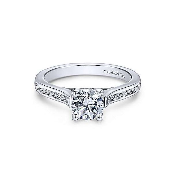Gabriel ER12321R3  14K White Gold Diamond Engagement Ring Enhancery Jewelers San Diego, CA