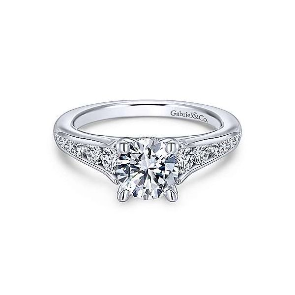 Gabriel ER12325R4  14K White Gold Diamond Engagement Ring Enhancery Jewelers San Diego, CA