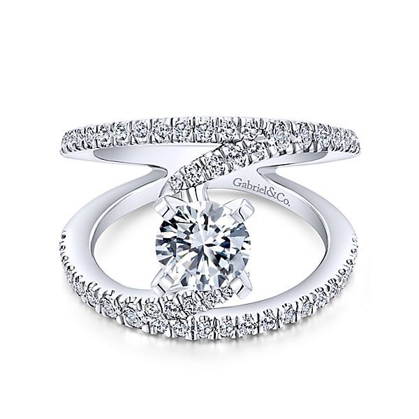 GabrielER12416R4   14K White Gold Diamond Engagement Ring Enhancery Jewelers San Diego, CA