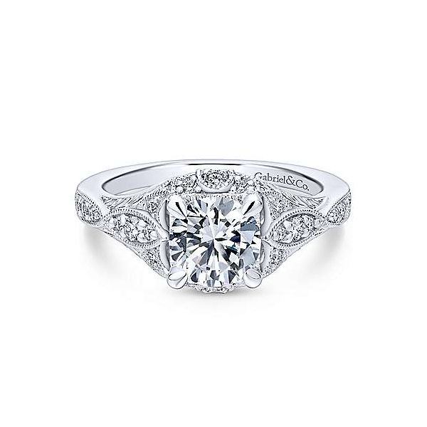 Gabriel ER12580R4  ,14K White Gold Diamond Engagement Ring Enhancery Jewelers San Diego, CA