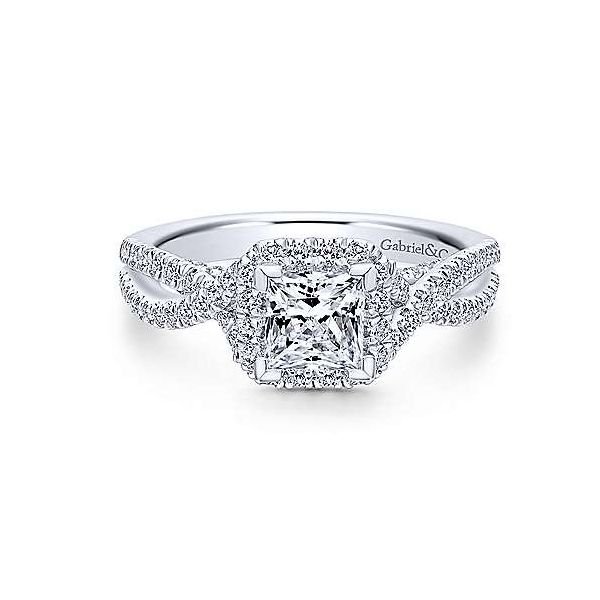 Gabriel ER12600S3,,14K White Gold Diamond Engagement Ring Enhancery Jewelers San Diego, CA