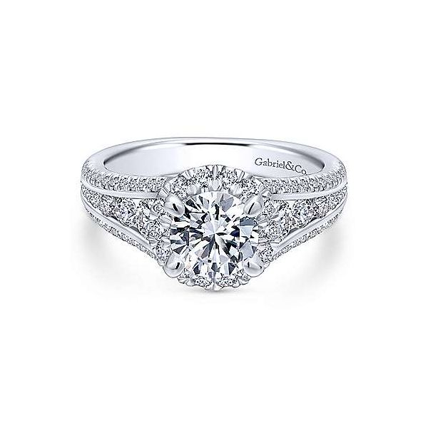 Gabriel ER12610R4  ,14K White Gold Diamond Engagement Ring Enhancery Jewelers San Diego, CA