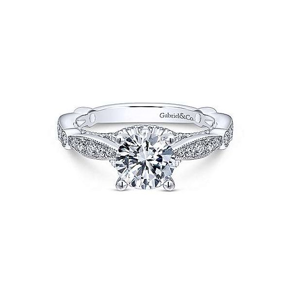 Gabriel ER12614R4, 14K White Gold Diamond Engagement Ring Enhancery Jewelers San Diego, CA