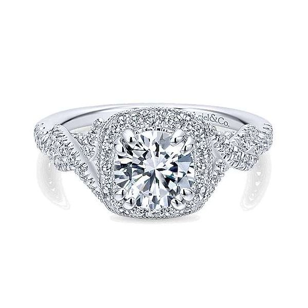 Gabriel ER12621R4 ,14K White Gold Diamond Engagement Ring Enhancery Jewelers San Diego, CA