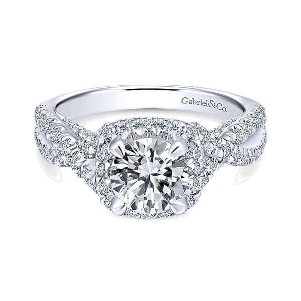 Gabriel ER12622R4, ,14K White Gold Diamond Engagement Ring Enhancery Jewelers San Diego, CA