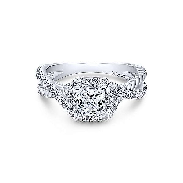 Gabrial ER12627S3,14K White Gold Diamond Engagement Ring Enhancery Jewelers San Diego, CA