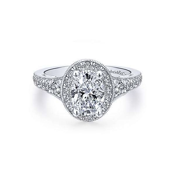 Gabriel ER12651O4  ,14K White Gold Diamond Engagement Ring Enhancery Jewelers San Diego, CA