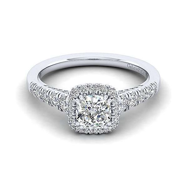 Gabriel ER12658C4  ,14K White Gold Diamond Engagement Ring Enhancery Jewelers San Diego, CA