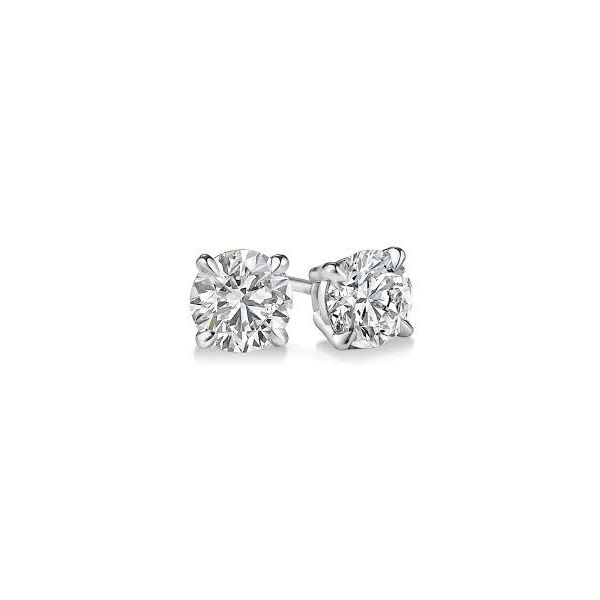 Diamond Stud 1/2 ct Round Diamond Earrings Enhancery Jewelers San Diego, CA