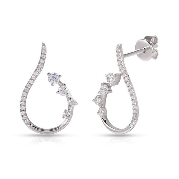 White gold diamond earrings Enhancery Jewelers San Diego, CA