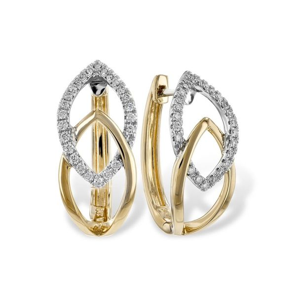 Hoop diamond earrings Enhancery Jewelers San Diego, CA