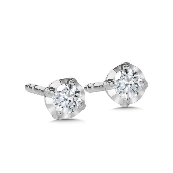 Diamond Stud With 2=0.10Tw Round Diamonds Enhancery Jewelers San Diego, CA