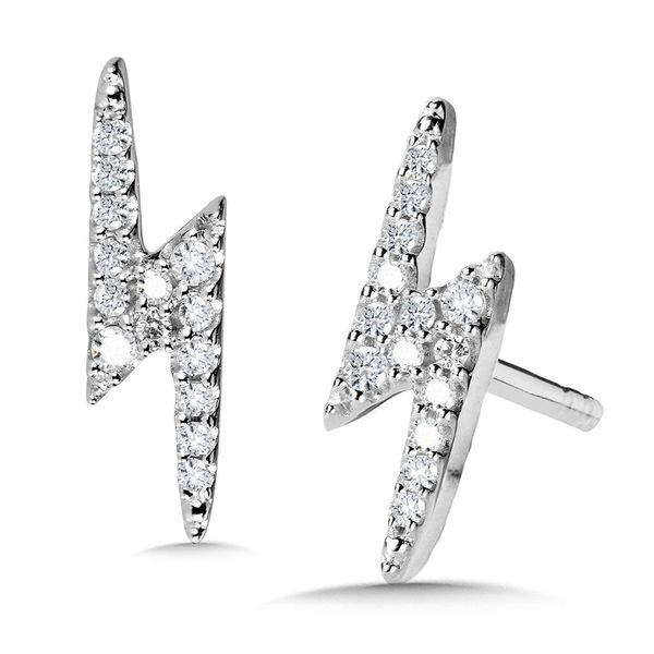 Lightning Diamond Earrings Enhancery Jewelers San Diego, CA