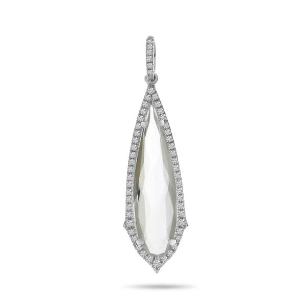 white topaz and diamond pendant Enhancery Jewelers San Diego, CA