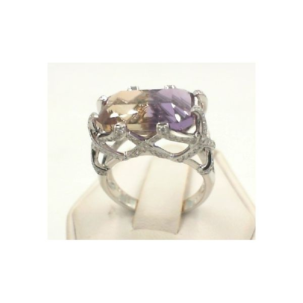 Ametrine gold and diamond rings Enhancery Jewelers San Diego, CA