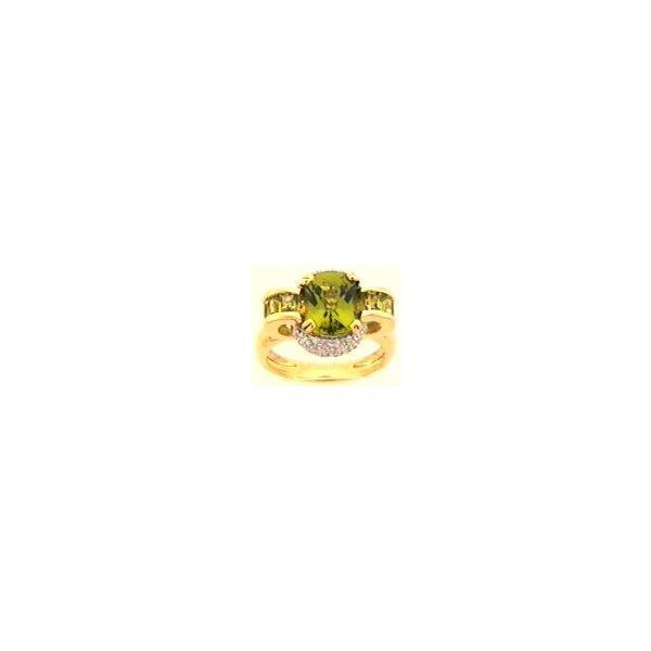 Peridot and Diamond Ring Enhancery Jewelers San Diego, CA