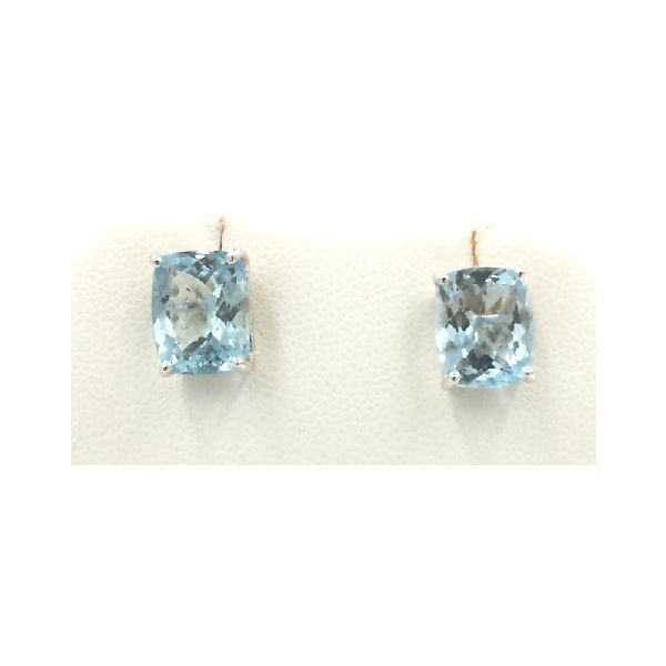 Blue topaz earrings Enhancery Jewelers San Diego, CA
