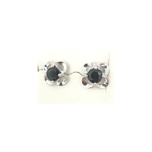 White gold sapphire earrings Enhancery Jewelers San Diego, CA