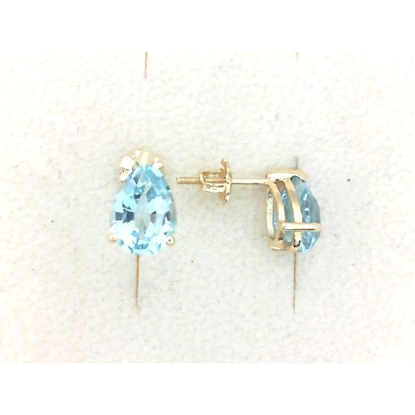 Blue Topaz with Threaded Post Earrings Enhancery Jewelers San Diego, CA
