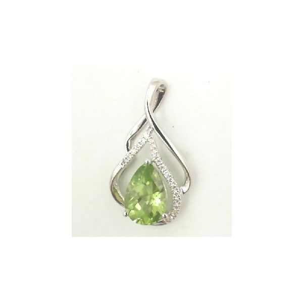 Peridot and diamond pendant Enhancery Jewelers San Diego, CA
