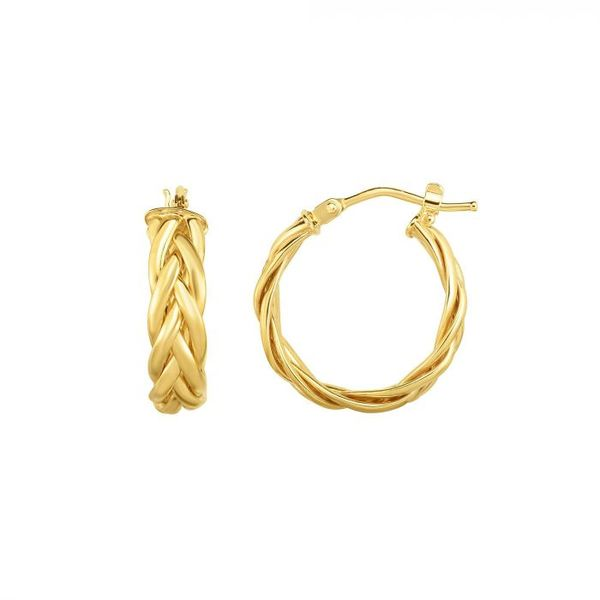 Weave Hoop Earrings Enhancery Jewelers San Diego, CA