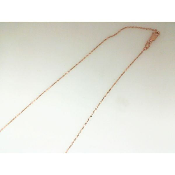Rose Gold Cable Link Chain Enhancery Jewelers San Diego, CA