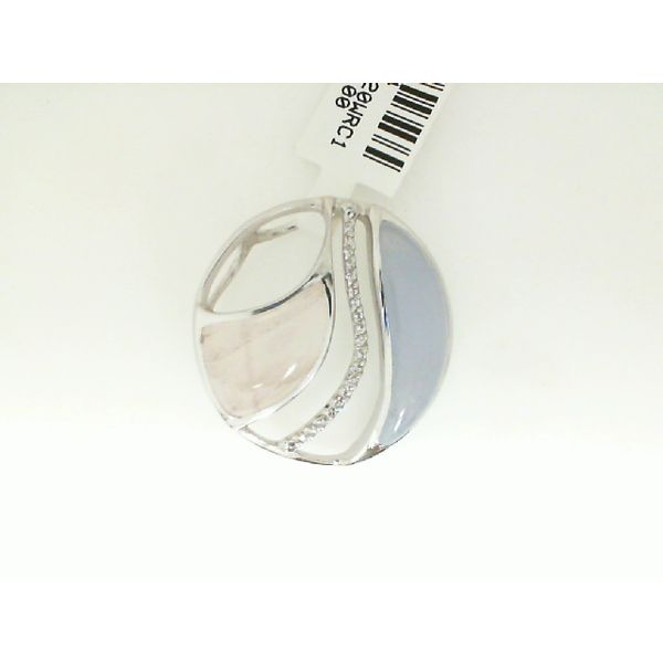 Lady's White Sterling Silver Slide Pendant Enhancery Jewelers San Diego, CA