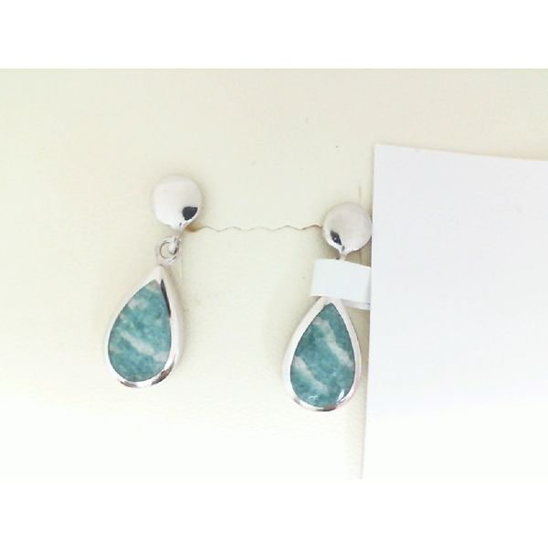 Silver Earrings With Amazonite Enhancery Jewelers San Diego, CA