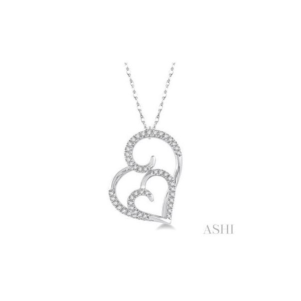 WHITE GOLD DIAMOND HEART NECKLACE Erickson Jewelers Iron Mountain, MI