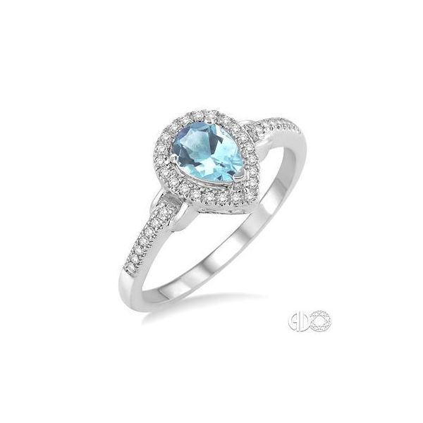 WHITE GOLD AQUA RING Erickson Jewelers Iron Mountain, MI