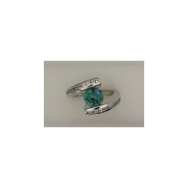 STERLING SILVER GREEN BLUE QUARTZ RING Erickson Jewelers Iron Mountain, MI