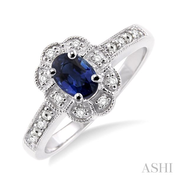 STERLING SILVER BLUE SAPPHIRE RING Erickson Jewelers Iron Mountain, MI