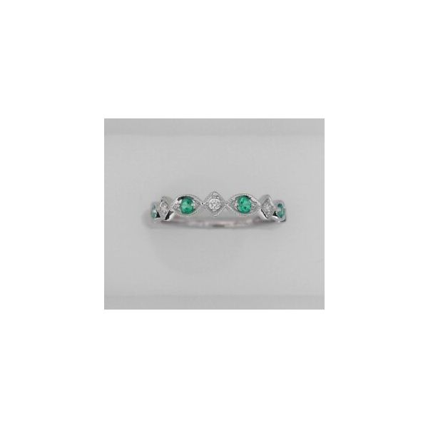 EMERALD AND DIAMOND STACKABLE RING Erickson Jewelers Iron Mountain, MI