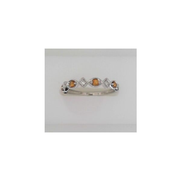 CITRINE AND DIAMOND STACKABLE RING Erickson Jewelers Iron Mountain, MI