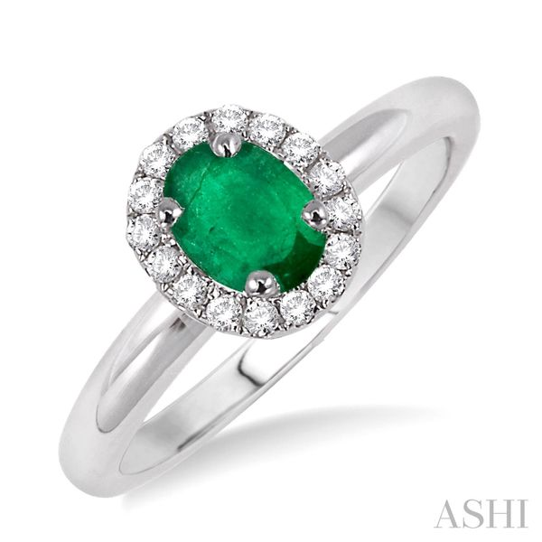 WHITE GOLD EMERALD RING Erickson Jewelers Iron Mountain, MI