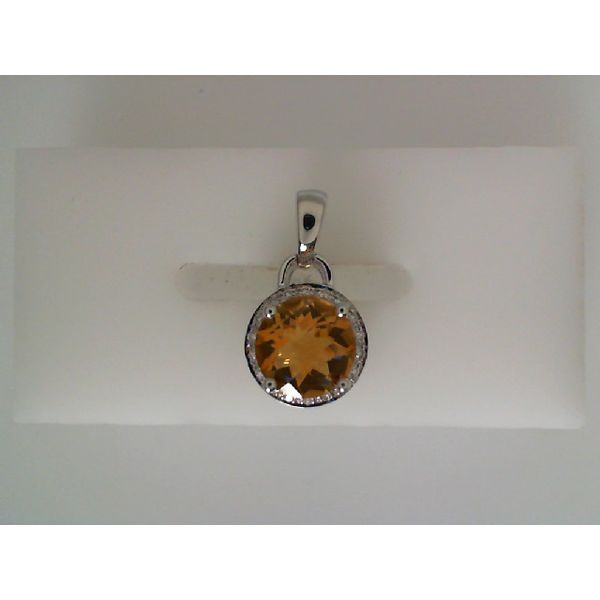 WHITE GOLD CITRINE PENDANT Erickson Jewelers Iron Mountain, MI