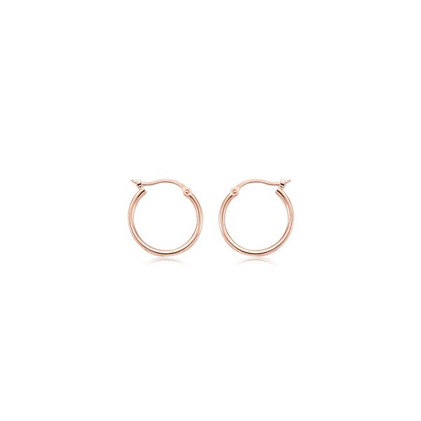 ROSE GOLD HOOPS Erickson Jewelers Iron Mountain, MI