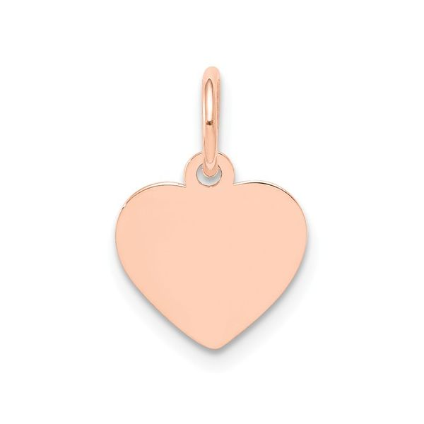 ROSE GOLD HEART CHARM Erickson Jewelers Iron Mountain, MI
