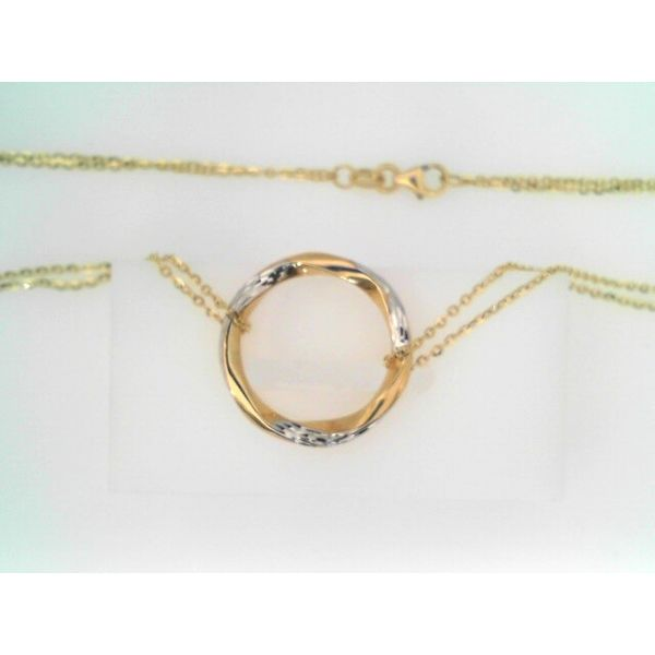 14KT TWO TONE NECKLACE Erickson Jewelers Iron Mountain, MI